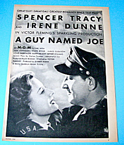 Vintage Ad: 1944 A Guy Named Joe With Spencer Tracy