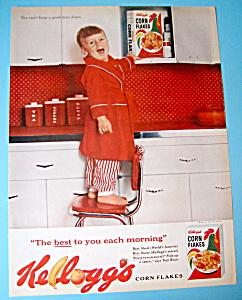 Vintage Ad: 1962 Kelloggs Corn Flakes Cereal (Image1)