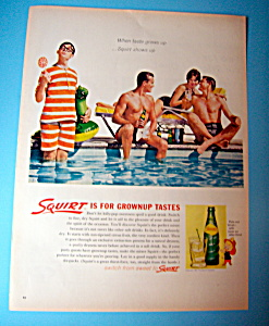1962 Squirt Soda With People At A Pool