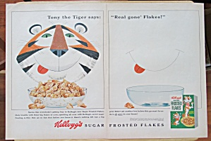 1962 Kelloggs Frosted Flakes Cereal W/tony The Tiger
