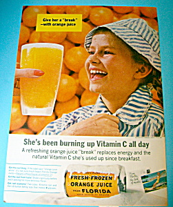 Vintage Ad: 1962 Fresh Frozen Orange juice (Image1)