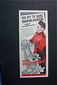 1940 Philip Morris with Bellboy Holding a Key (Image1)