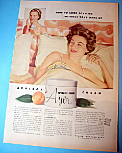 Vintage Ad: 1953 Harriet Hubbard Ayer Apricot Cream (Image1)