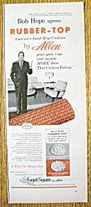 Vintage Ad: 1956 Allen Rubber Top W/bob Hope