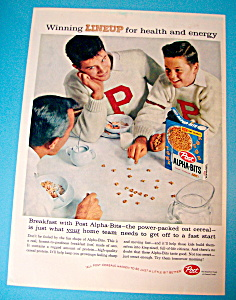 Vintage Ad: 1959 Post Alpha Bits Cereal