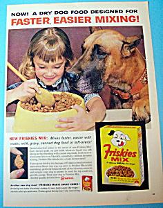 Vintage Ad: 1963 Friskies Mix Dog Food (Image1)