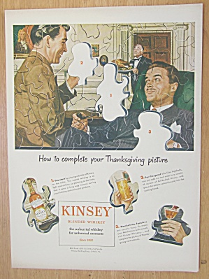 1946 Kinsey Whiskey With Puzzle Of Men Talking