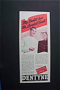 1940 Dentyne Chewing Gum w/Dentist Talking to Woman (Image1)