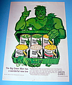 Vintage Ad: 1960 Green Giant Vegetables