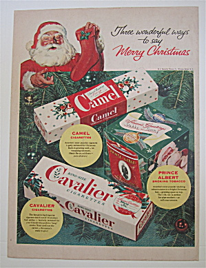 1953 Camel Cigarettes with Santa Claus  (Image1)