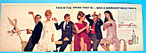 Vintage Ad: 1966 Smirnoff Vodka With Woody Allen