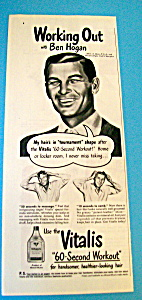 Vintage Ad: 1948 Vitalis w/Ben Hogan (Image1)