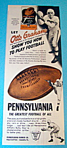 Vintage Ad: 1948 Pennsylvania Football /w Otto Graham (Image1)