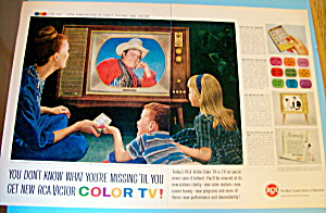 Vintage Ad: 1960 Rca Victor Color Tv W/ Dan Blocker