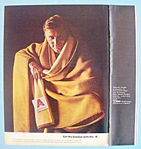 Vintage Ad: 1965 Acrilan Blanket with Kirk Douglas (Image1)