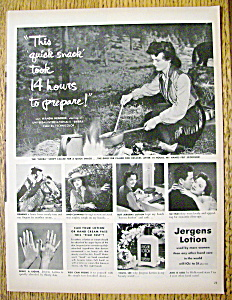 Vintage Ad: 1950 Jergens Lotion With Wanda Hendrix