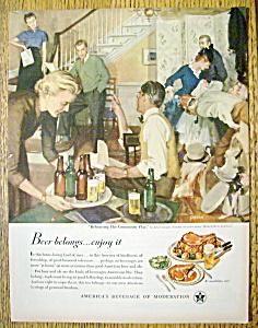 Vintage Ad: 1950 Beer Belongs By John Gannam (Image1)