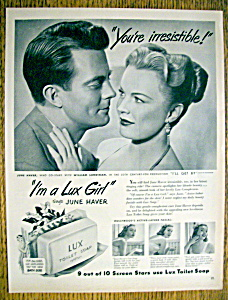 Vintage Ad: 1950 Lux Toilet Soap With June Haver