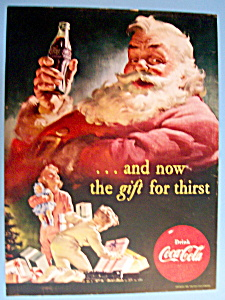 1952 Coca Cola (Coke) with Santa Claus Drinking Soda (Image1)