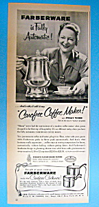 Vintage Ad: 1953 Carefree Coffee Maker W/ Peggy Wood