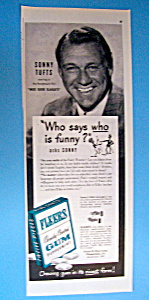 Vintage Ad: 1946 Fleers Gum With Sonny Tufts