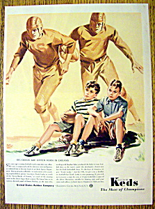 1941 Keds Shoes Of Champions With 2 Boys Sitting Down