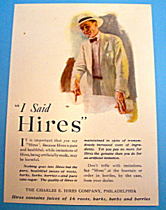 Vintage Ad: 1920 Hires Root Beer