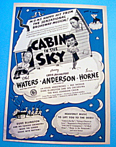 Vintage Ad: 1922 Cabin In The Sky W/ Lena Horne
