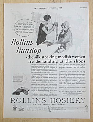 1925 Rollins Hosiery with Two Women Talking About Nylon (Image1)