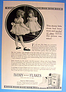1934 Ivory Soap Flakes w/ Young Girl Looking in Mirror (Image1)
