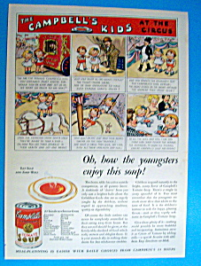 Vintage Ad: 1933 Campbell's Kids At The Circus