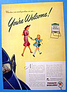 1941 Texaco Dealers & Rest Room Signs w/Woman & Girl (Image1)