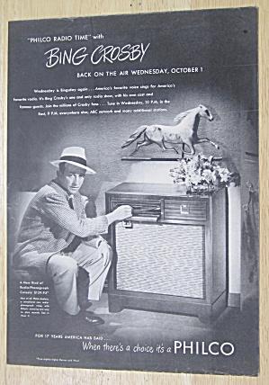 1947 Philco Radio Phonograph Console with Bing Crosby (Image1)
