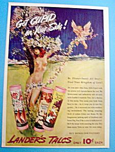 1940 Lander's Talcum Powder w/Woman & Flowers (Image1)