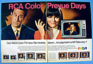Vintage Ad: 1968 Rca Color Television W/ Don Adams