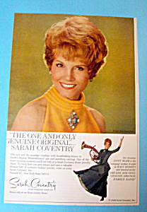 Vintage Ad: 1968 Sarah Coventry Jewelry W/ Janet Blair