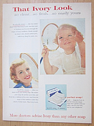 1956 Ivory Soap with a Tennis Player  (Image1)