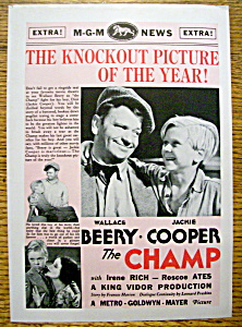 Vintage Ad: 1932 The Champ W/ Jackie Cooper