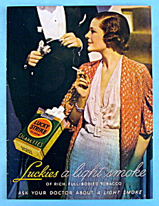 1932 Lucky Strike Cigarettes with Woman Smoking (Image1)