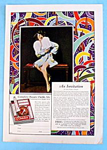 Vintage Ad: 1928 Edna Wallace Hopper Beauty Kit (Image1)