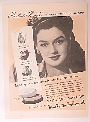 1943 Max Factor Pan-Cake Make-Up w/Rosalind Russell (Image1)
