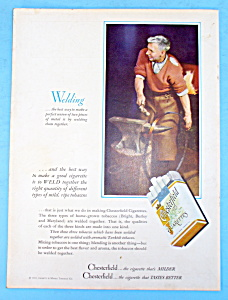 1935 Chesterfield Cigarettes with Man Welding (Image1)