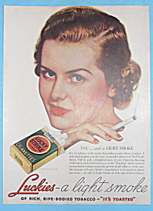 1936 Lucky Strike Cigarettes with Woman Smoking (Image1)