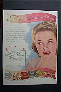 1941 Coty Air Spun Make Up with Woman Wearing Make Up (Image1)