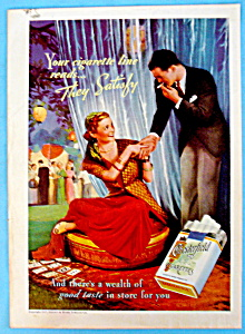 1937 Chesterfield Cigarettes with Man & Woman Smoking (Image1)