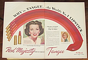 1947 Tangee Red Majesty Lipstick with Marsha Hunt  (Image1)
