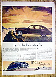 1941 Lincoln Zephyr V-12 With Observation Car