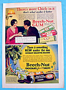 1932 Beech-nut Gum And Chocolate Drops W/man & Woman