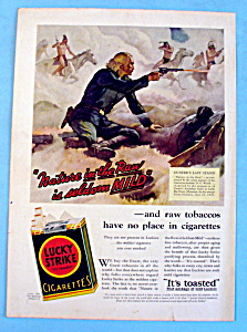 1932 Lucky Strike Cigarettes with Custer's Last Stand (Image1)