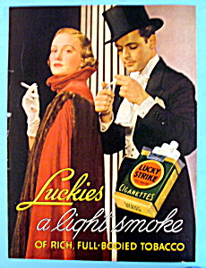 1936 Lucky Strike Cigarettes with Woman & Man Smoking (Image1)